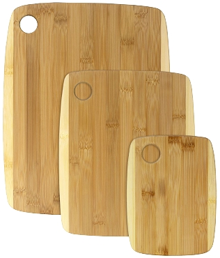 3 pc Two-Tone Personalized Cutting Board Set